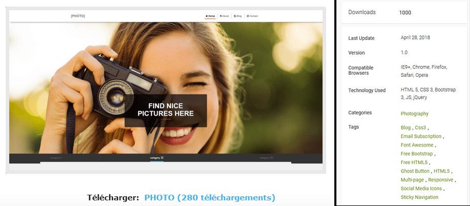 thème gratuit photofan v 1.0