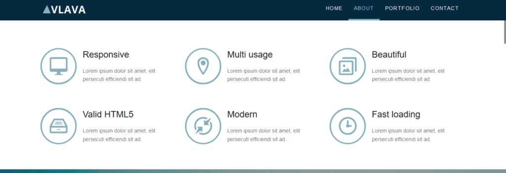 thème gratuit responsive html5/css3 pour site de présentation