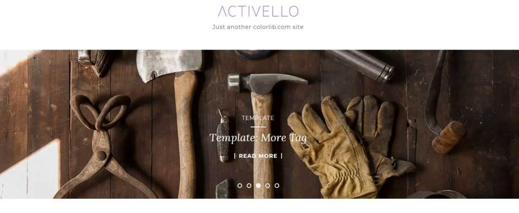 activello : Thème wordpress gratuit responsive pour site d'entreprise