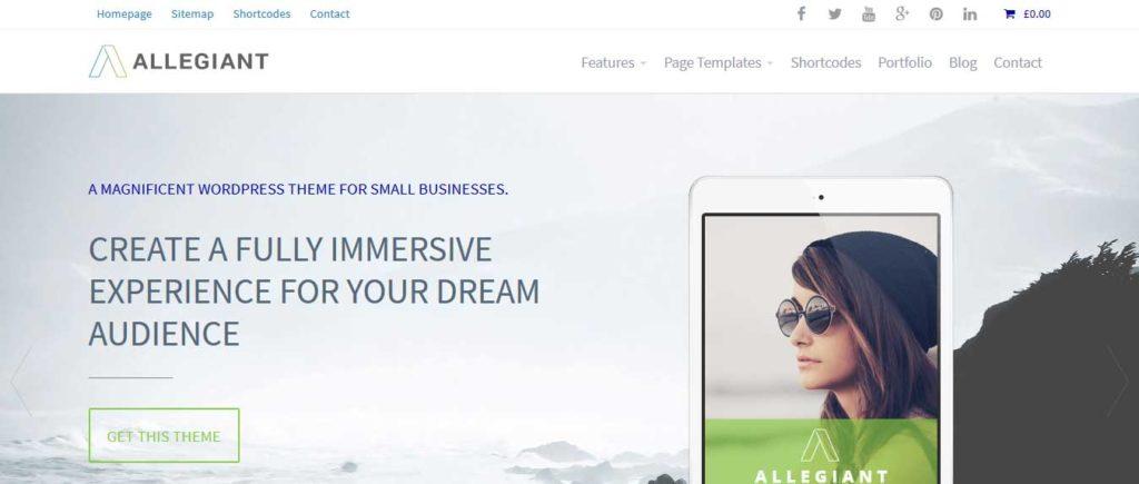 allegiant : Thème wordpress gratuit responsive pour site d'entreprise