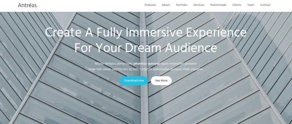 antreas : Thème wordpress gratuit responsive pour site d'entreprise