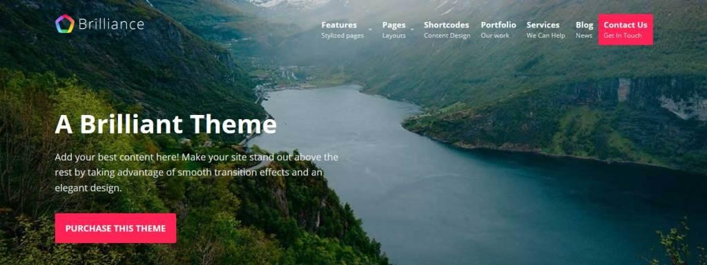 brilliance : Thème wordpress gratuit responsive pour site d'entreprise