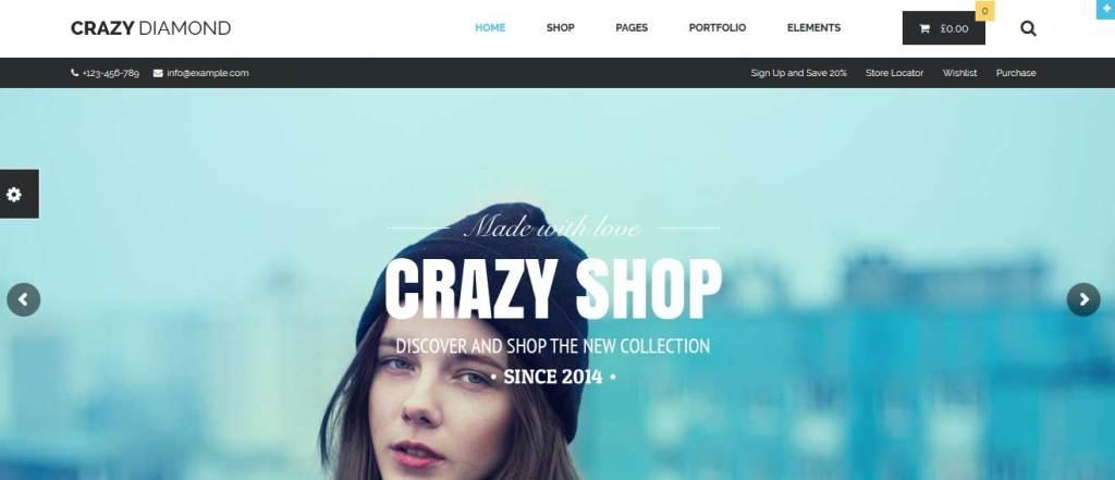 crazy diamond: meilleurs thèmes pour site d'ecommerce
