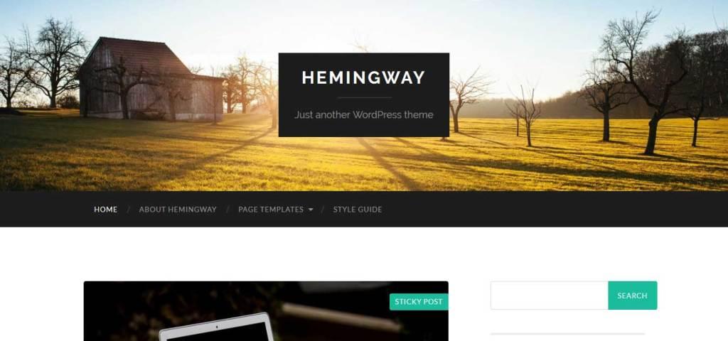 hemingway : Thème wordpress gratuit responsive pour site d'entreprise