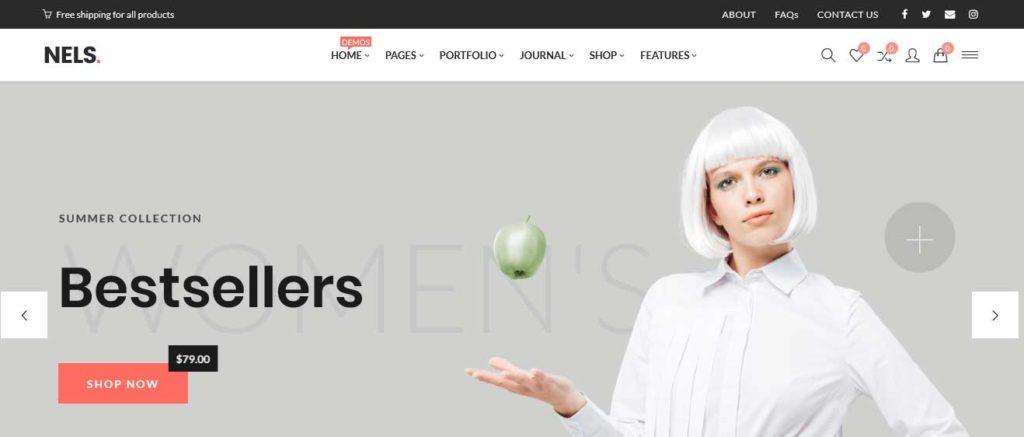nels: meilleurs thèmes pour site d'ecommerce