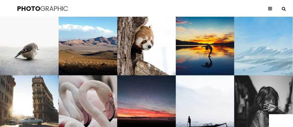 photographic : thèmes gratuits Bootstrap pour site moderne