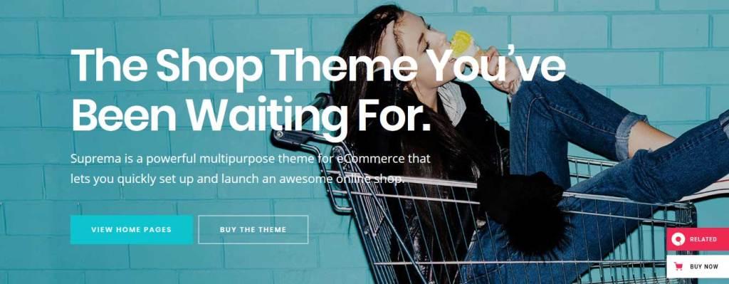 suprema: meilleurs thèmes pour site d'ecommerce