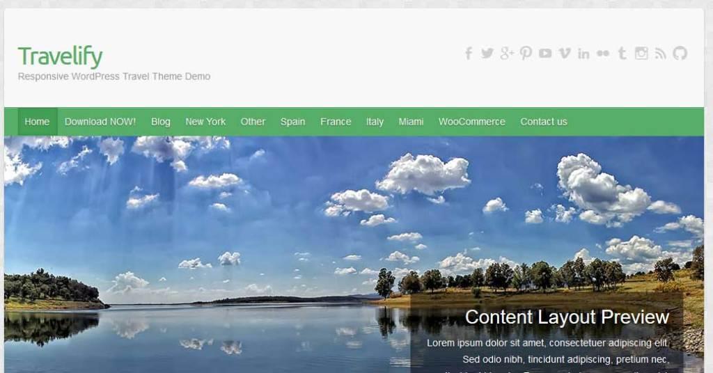 travelify : Thème wordpress gratuit responsive pour site d'entreprise