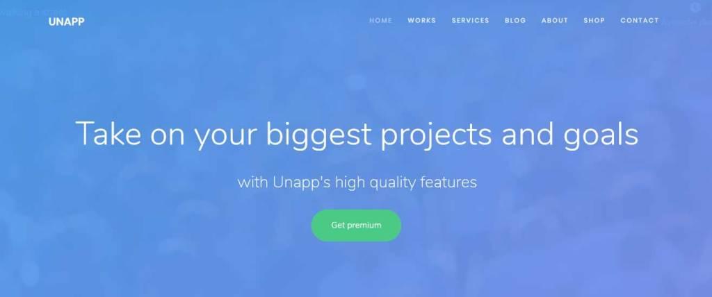 unapp : thèmes gratuits Bootstrap pour site moderne