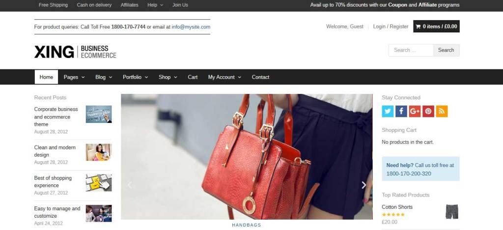 xing: meilleurs thèmes pour site d'ecommerce
