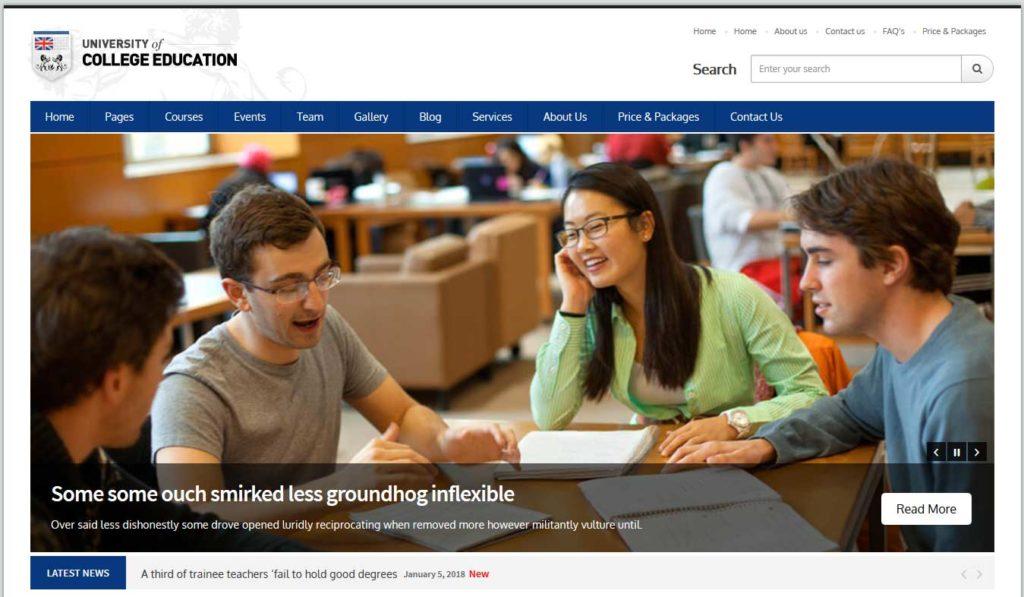 College Education: thèmes wordpress premiums pour site d'éducation