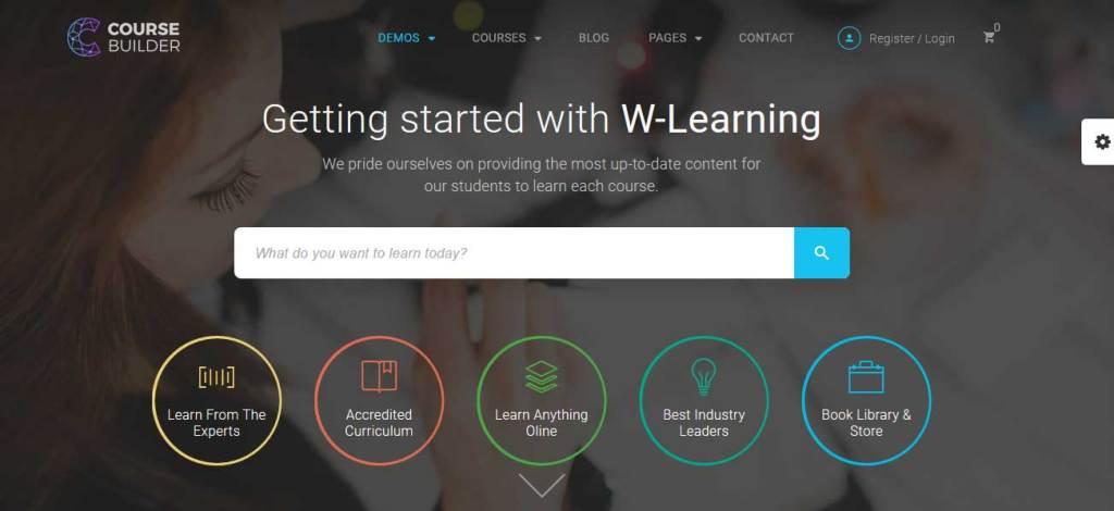 Course Builder: thèmes wordpress premiums pour site d'éducation