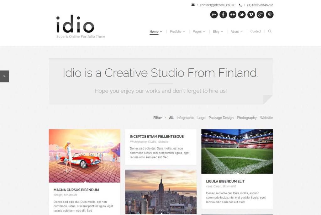 idio: thème wordpress portfolio