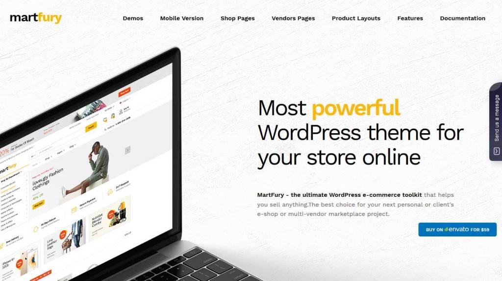 Martfury: thèmes WooCommerce pour boutique en ligne