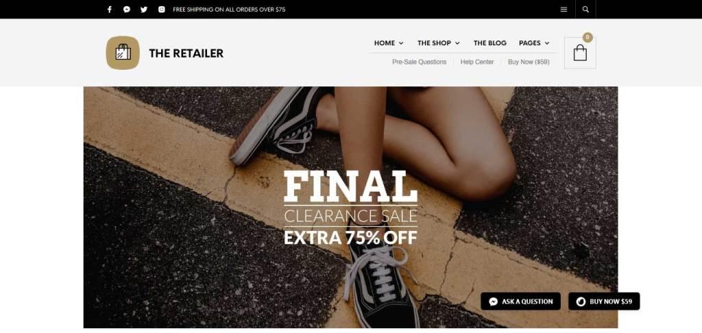 Retailer: thèmes WooCommerce pour boutique en ligne