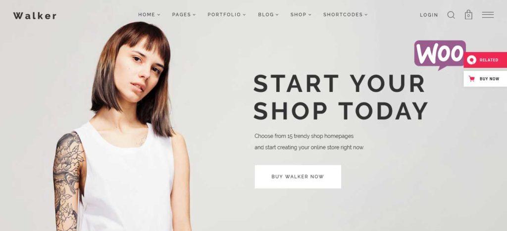 Walker: thèmes WooCommerce pour boutique en ligne
