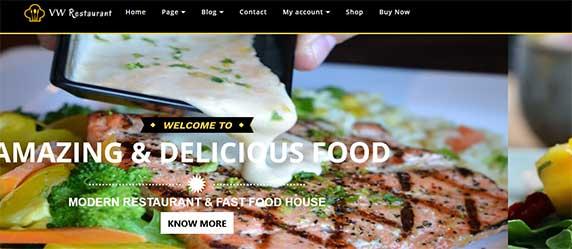 vw-restautarant : thème responsive gratuit pour site de restaurant