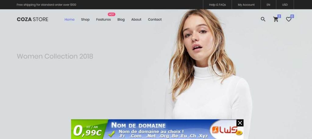 coza-store : thème responsive gratuit ecommerce de mode