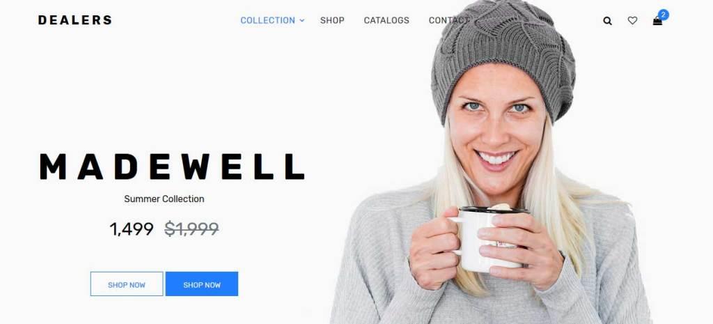 dealers : thème responsive gratuit ecommerce de mode