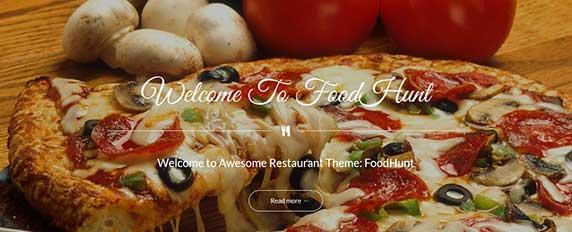 foodhunt : thème responsive gratuit pour site de restaurant