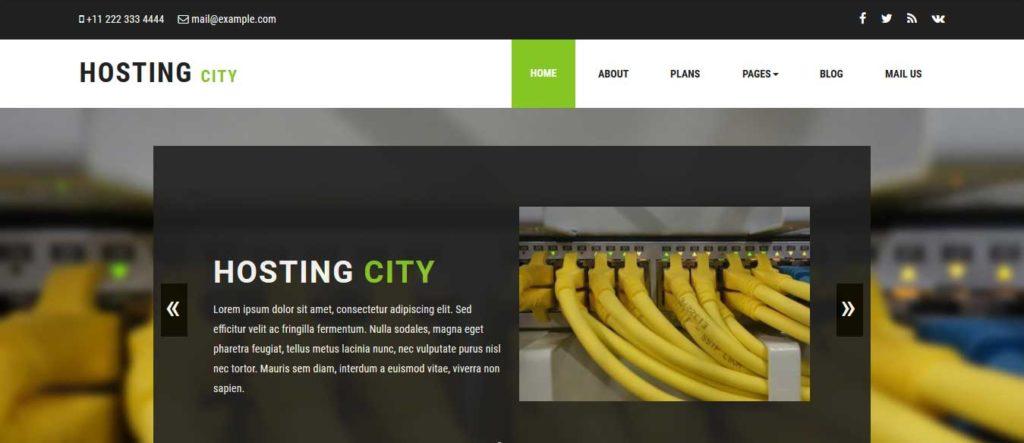 hosting-city : template gratuit responsive pour site d'hébergement