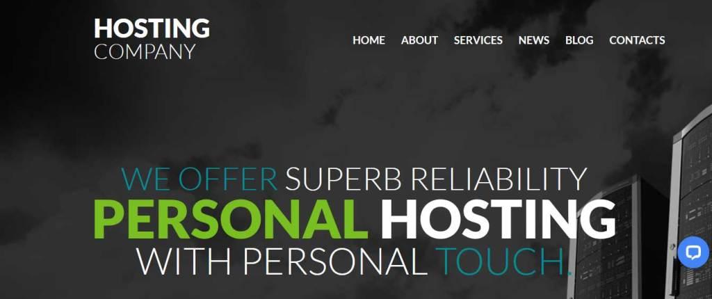 hosting-company : template gratuit responsive pour créer un site d'hébergement