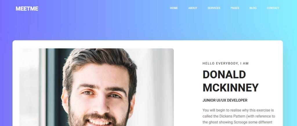 meetme : thèmes responsives gratuits pour freelance