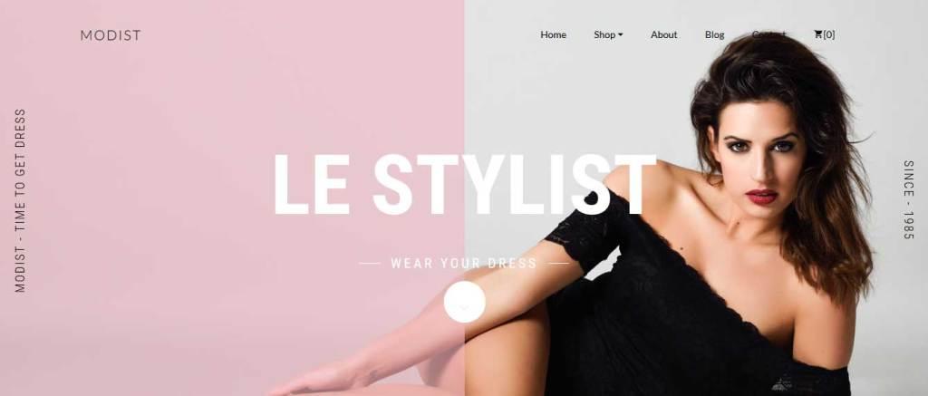modist : thème responsive gratuit ecommerce de mode