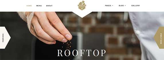 rooftop : thème responsive gratuit pour site de restaurant