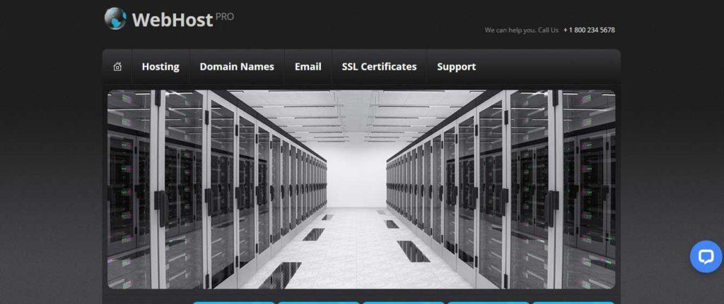 webhost-pro : template gratuit responsive pour site d'hébergement