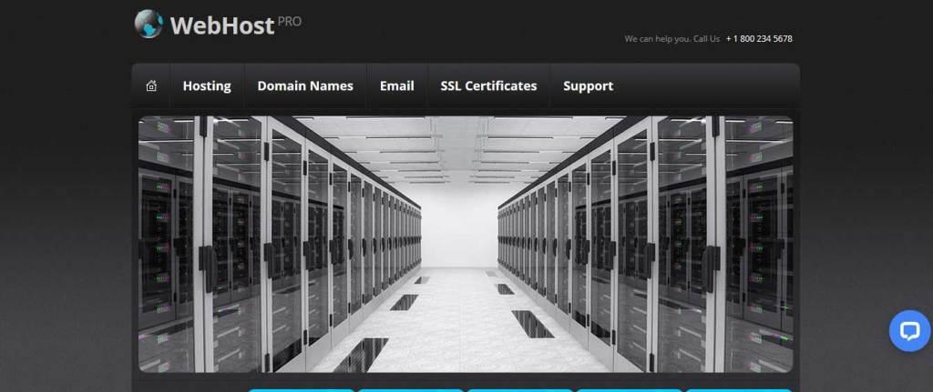 webhost-pro : template gratuit responsive pour créer un site d'hébergement