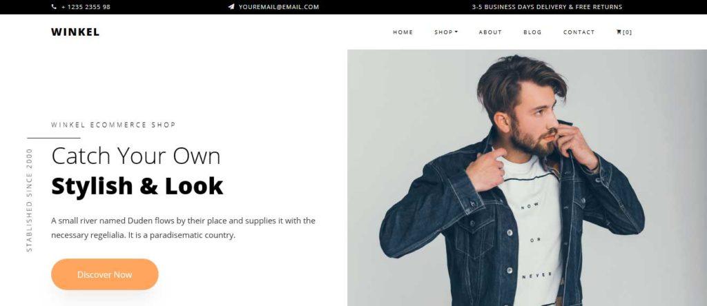 winkel : thème responsive gratuit ecommerce de mode