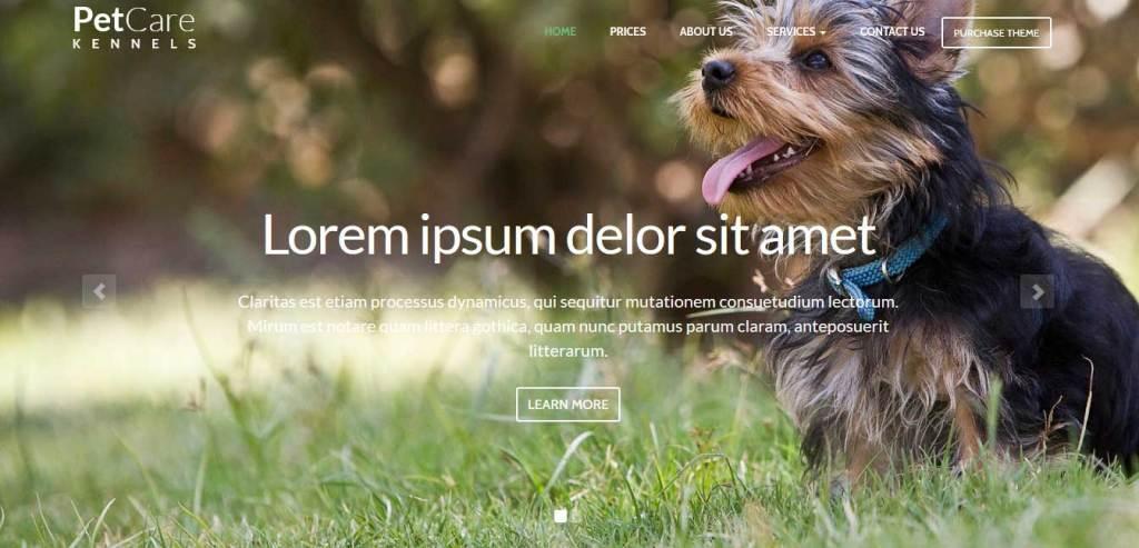 petcare-kennels : themes pour site d'animaux