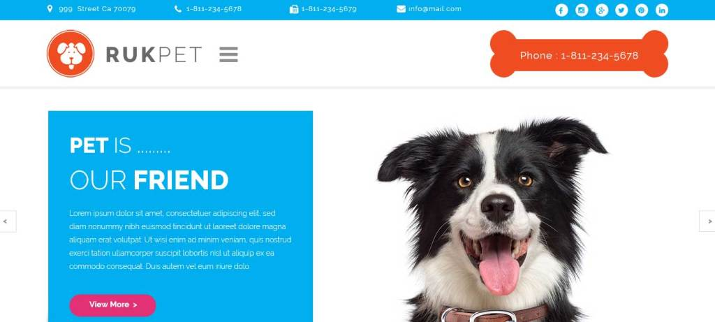 rukpet : themes pour site d'animaux