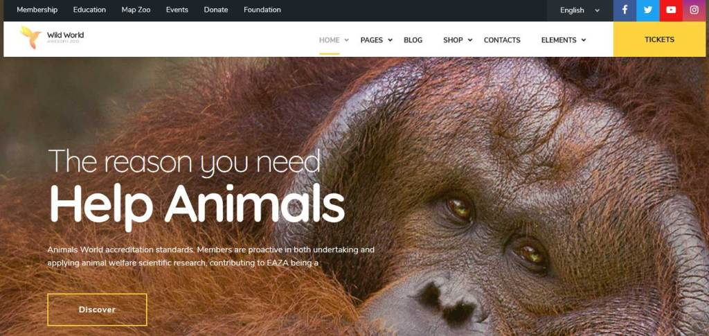 wildworld : themes pour site d'animaux