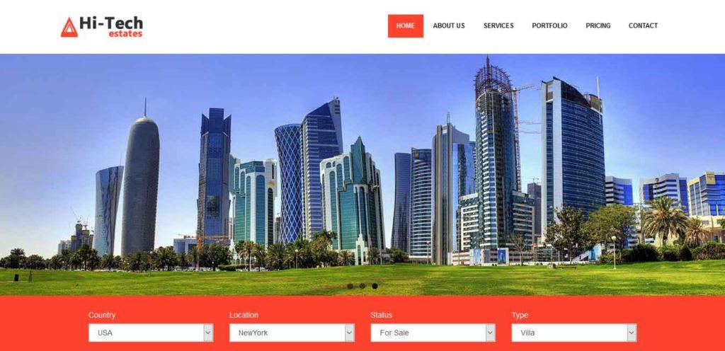 hi tech : thème gratuit pour site d'immobilier