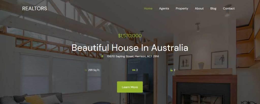 realtors : thème gratuit pour site d'immobilier