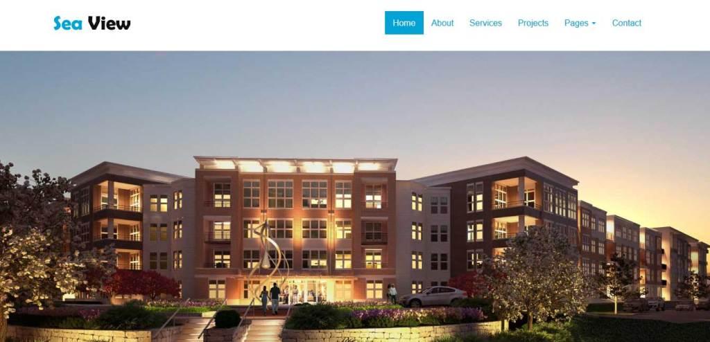seaview : thème gratuit pour site d'immobilier