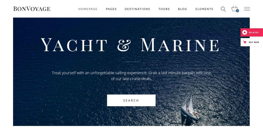 cruise : thème premium pour agence de voyage