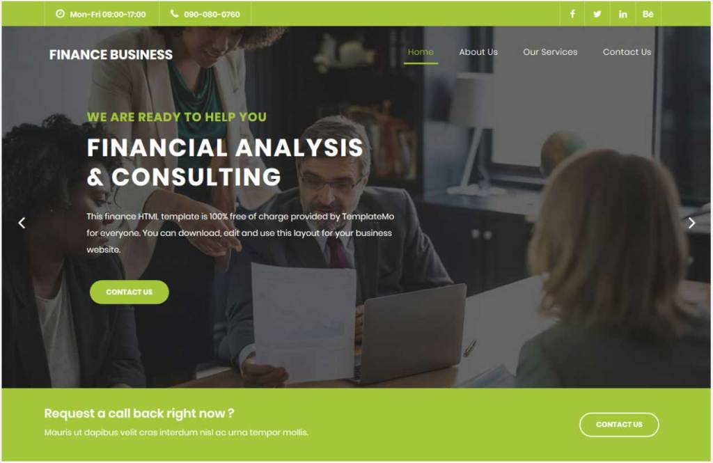 Finance Business : Thème html css responsive