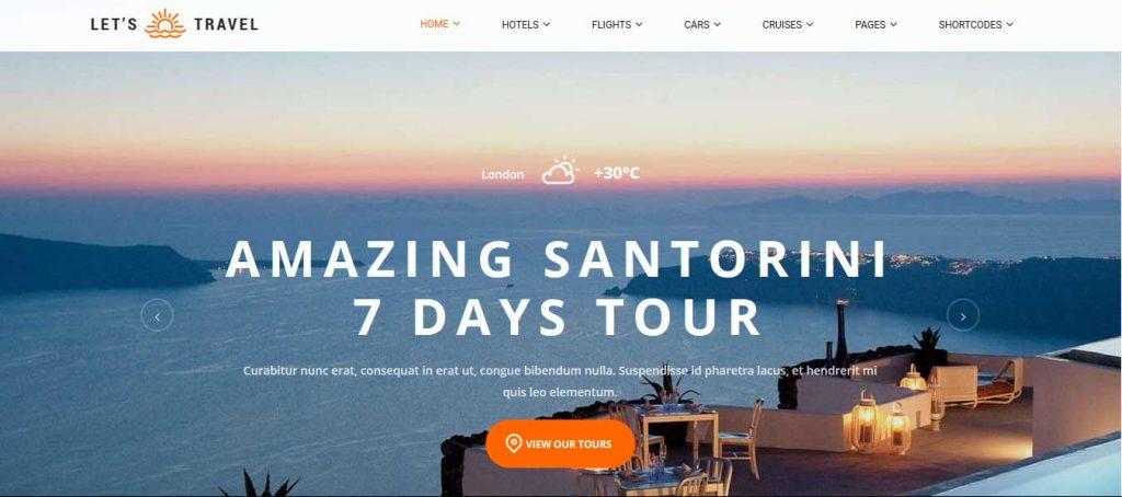 Let's Travel : thème premium pour agence de voyage