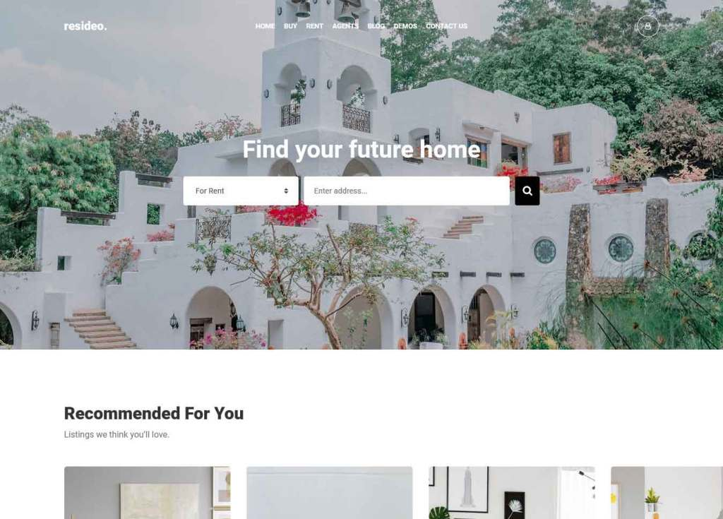 Resideo : Thème wordpress pour site d'immobilier