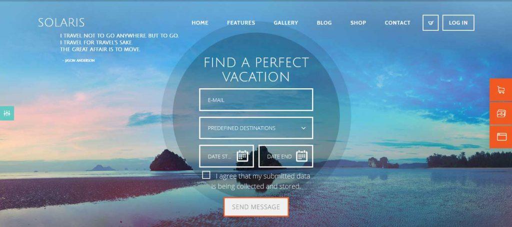 Solaris : thème premium pour agence de voyage