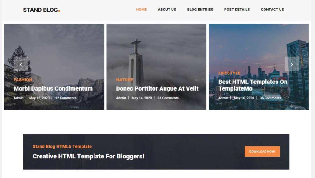 stand blog : Thème html css responsive