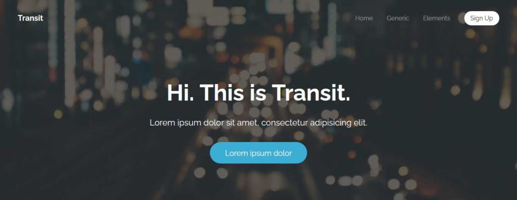 transit : Thème html css responsive