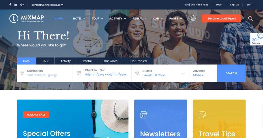 Travel Booking : thème premium pour agence de voyage