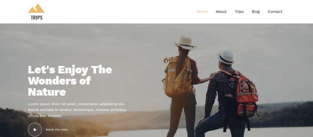 Trips : template bootstrap agence de voyages gratuit