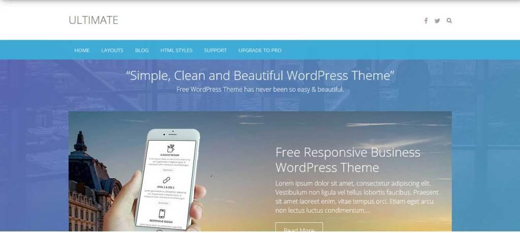 ultimate : thème wordpress gratuit