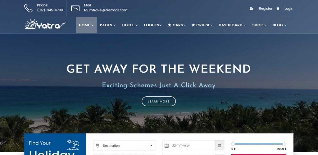 Yatra : thème premium pour agence de voyages