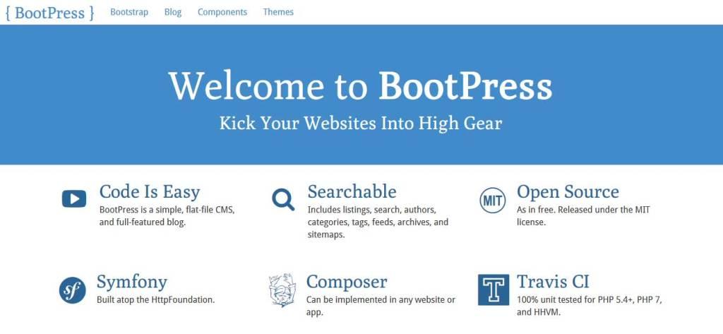 bootpress outil pour créer un thème wordpress avec bootstrap